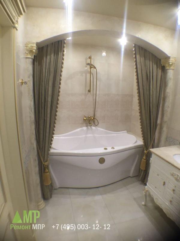 Установка ванны джакузи